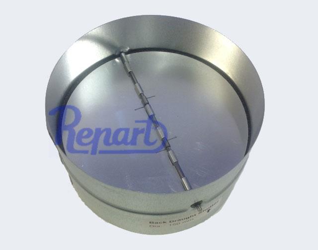 Køb Modtryksspjæld ø 150 mm metal | Levering 1-2 dage - Repart
